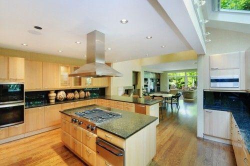 küche mit kochinsel modernes design schubladen freiraum ordnung - ordnung in der küche