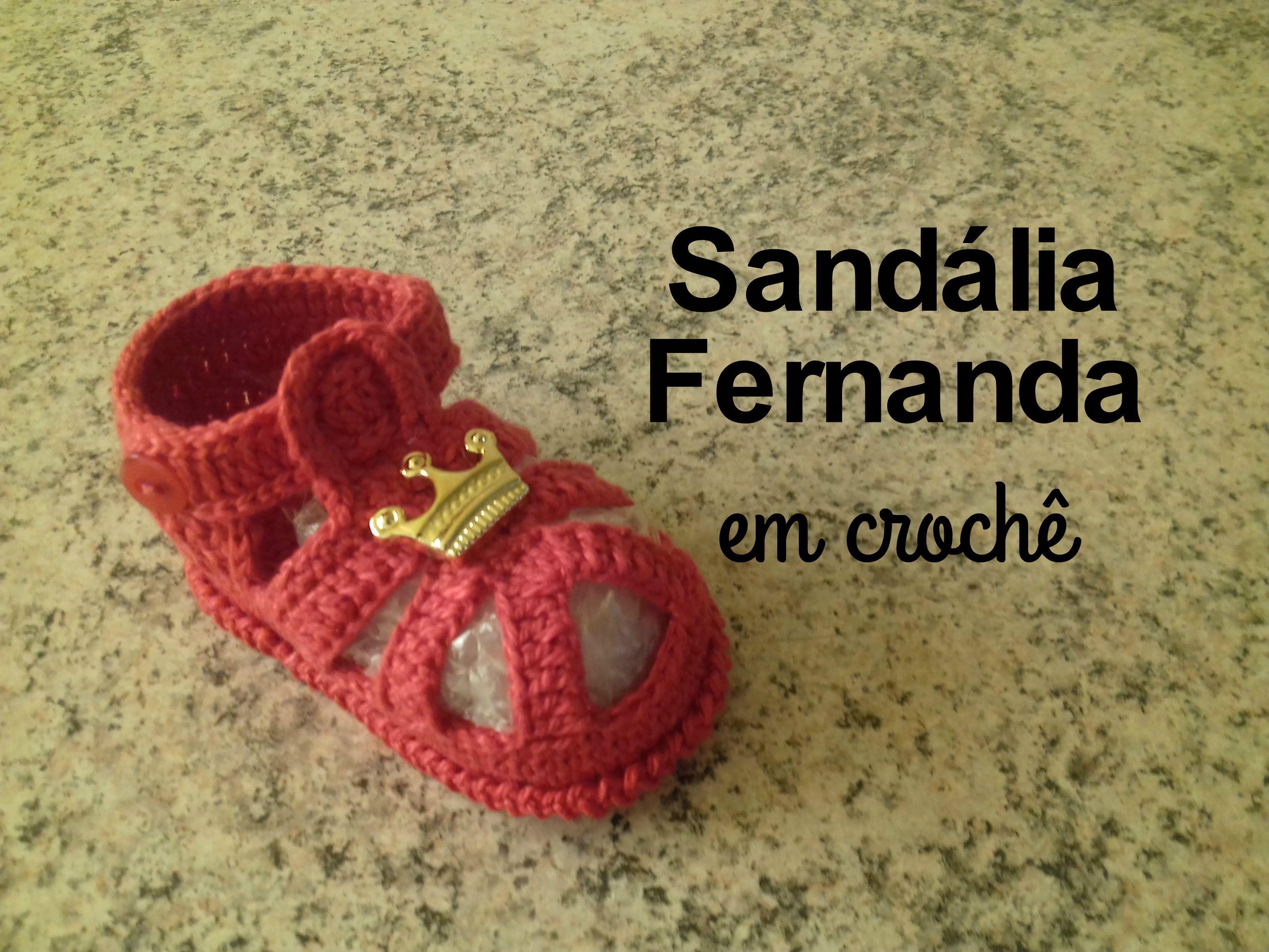 Sandália Fernanda em crochê