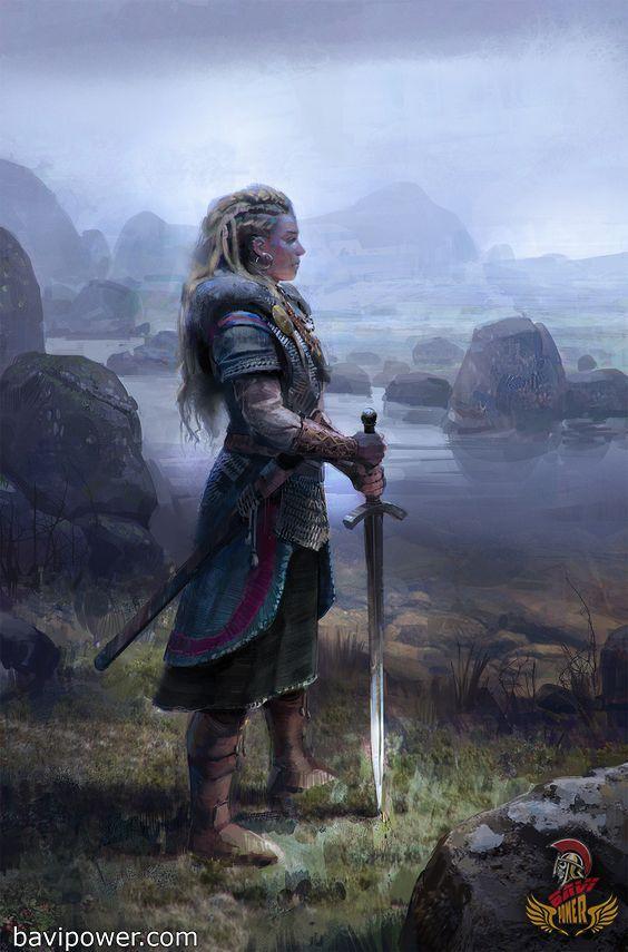 Viking Women Warriors Warrior Woman Medieval Fantasy Vikings
