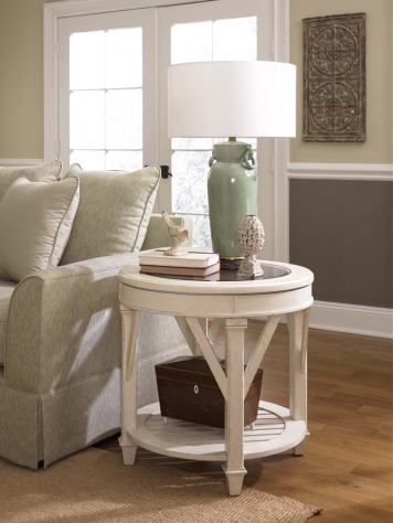 Promenade Round End Table Hammary Home Gallery Stores