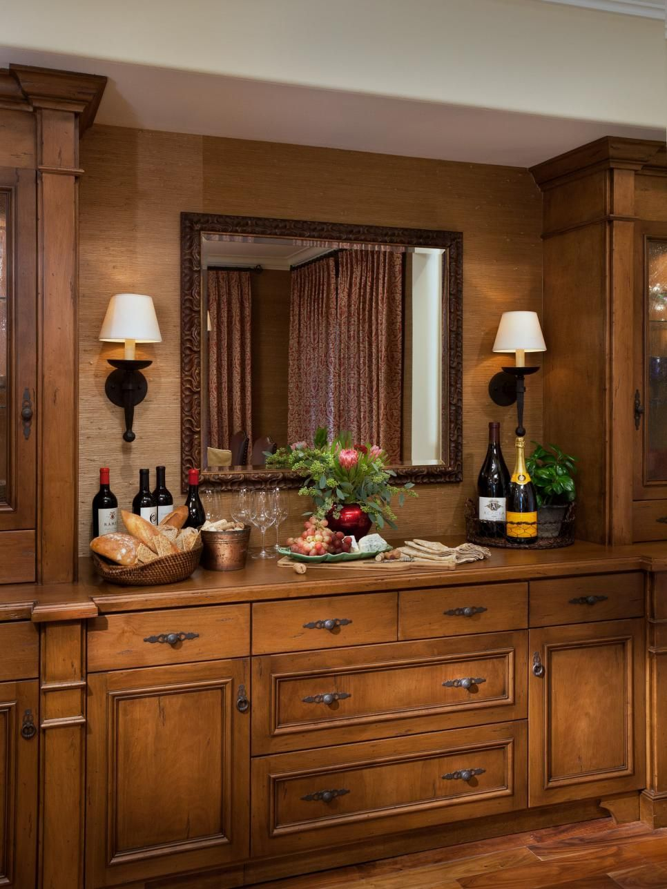 Built In Dining Room Bar And Buffet Dining Room Buffet