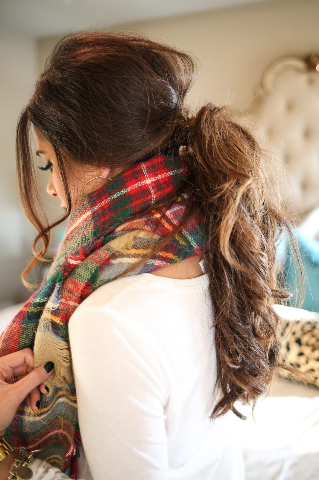 Fall Hairstyles My Goto Fall Hairstyle  Messy Low Ponytail  Hairstyles