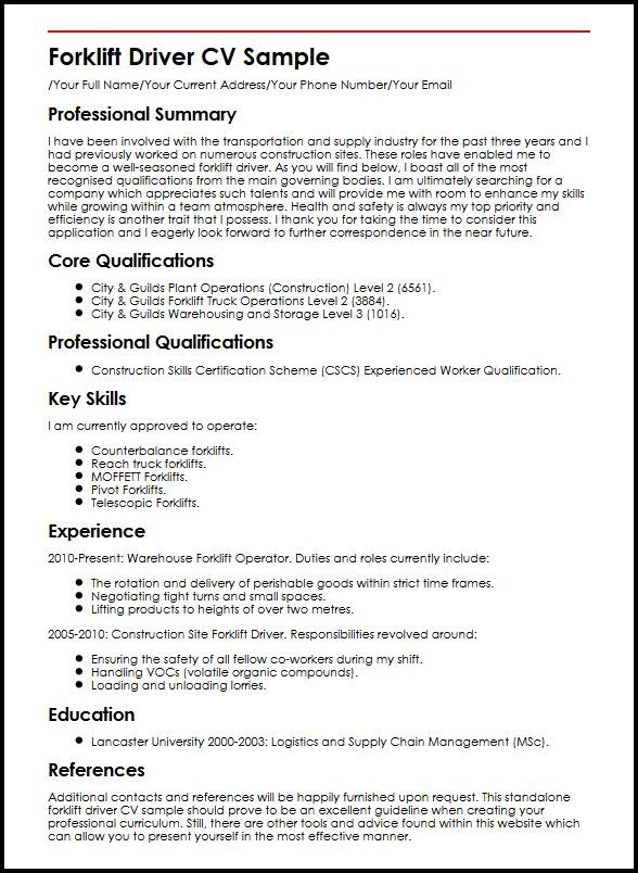 Cv Template Qualifications 2-Cv Template Sample resume, Resume