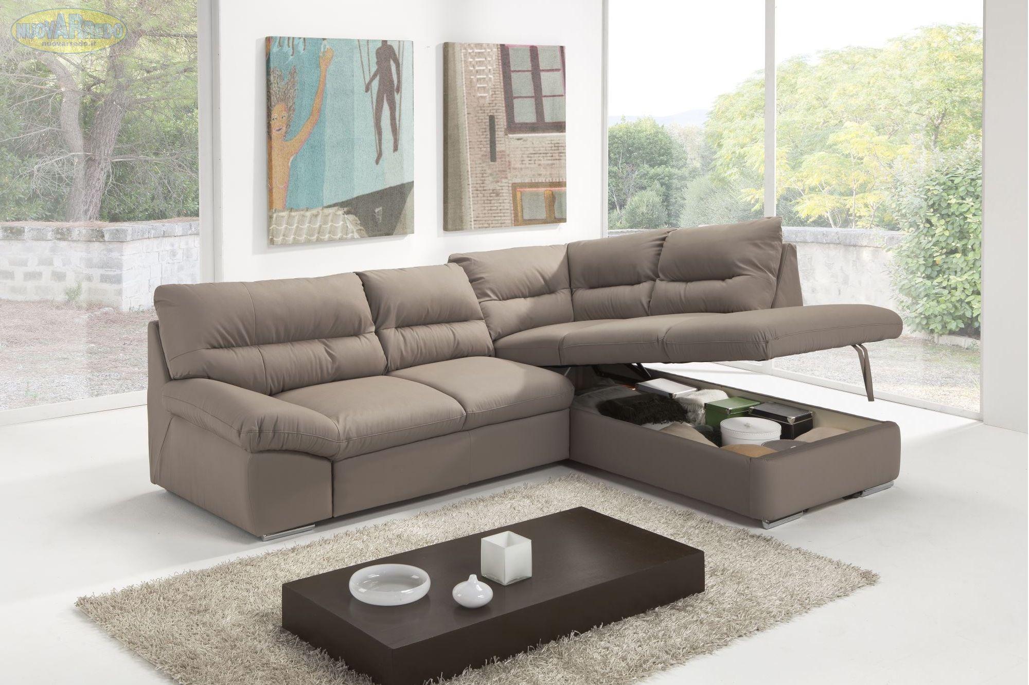 Divano Trapuntato ~ Prezzo u ac divano angolare in ecopelle argento con contenitore