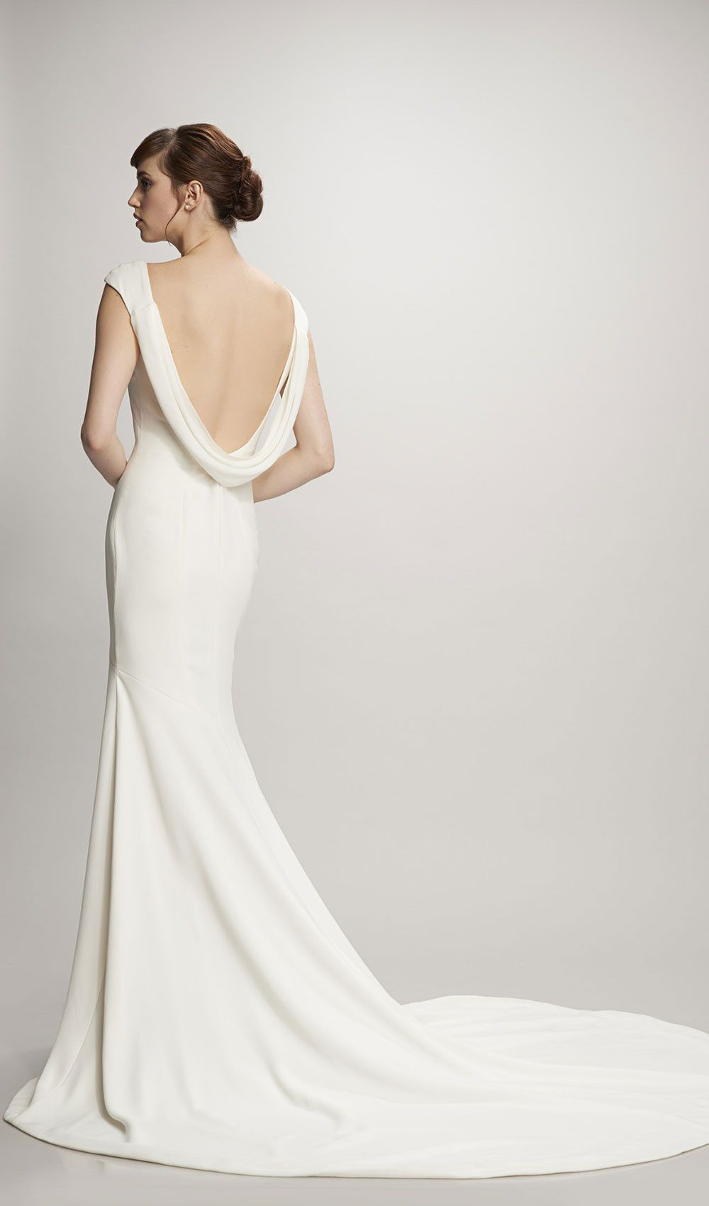 Show off your back in this classic wedding dress with a low back ...