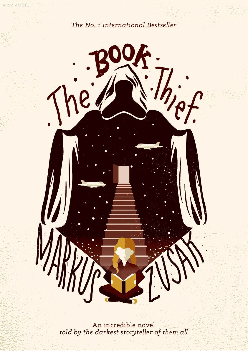 The Book Thief Redesigned Book Cover Illustration The Book