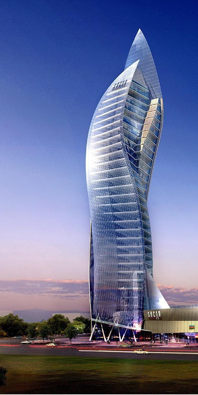 Baku The Capital Of Azerbaijan Skyscraper Architecture Amazing Architecture Amazing Buildings