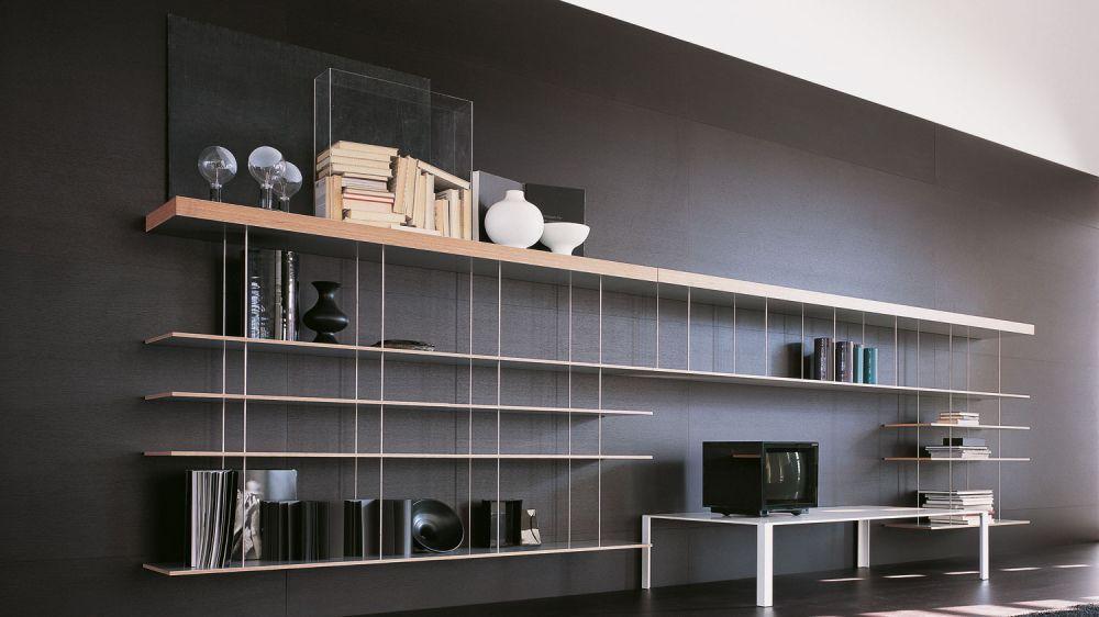 tag re murale contemporaine en mdf acier inoxydable graduate molteni c bibli. Black Bedroom Furniture Sets. Home Design Ideas