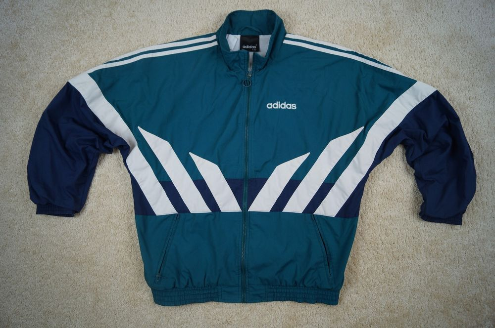 Adidas Long Jumper D6 Green Men's White M Jackets Size Vintage F180 uiPXkZ