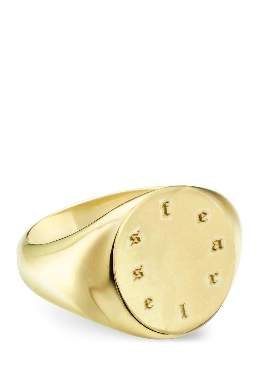 Argento Vivo   14K Gold Vermeil Fearless Signet Ring   Nordstrom Rack