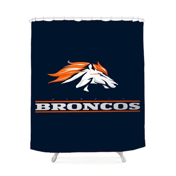 Denver Broncos Logo American Football Team Shower Curtain