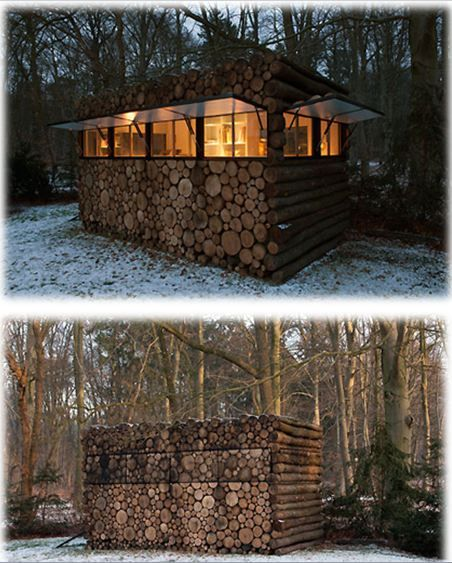 Wood shed home: Photo by tuinhuis Hans Liberg