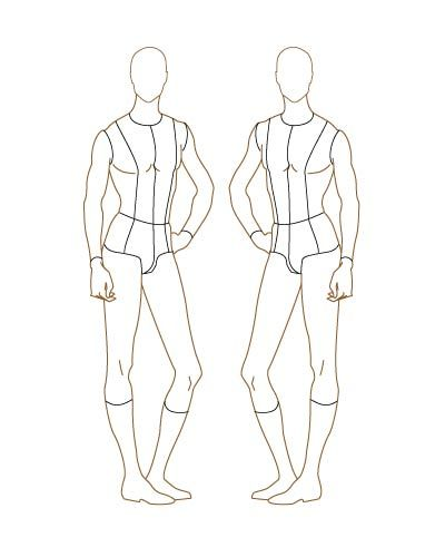 V5 Male Fashion Croqui Three Quarter Front View Designers Nexus Fashion Design Template Fashion Illustration Template Fashion Figures