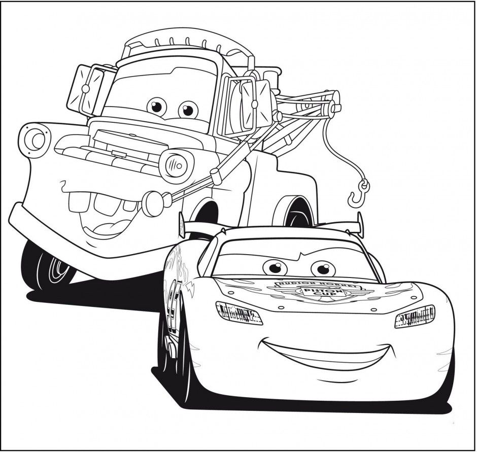 Cars Mack coloring page for kids, disney coloring pages