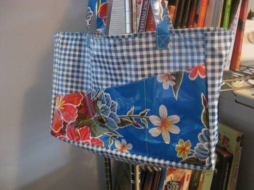 Oil Cloth Bag. (I love the outside pockets)