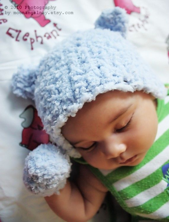 44f4b69865f SUMMER SALE  Preemie Tiny Baby Newborn Blue Bear Hat (Can be made in custom