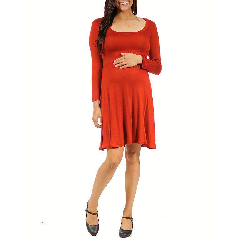 4e8e215a71b 24 7 Comfort Apparel A-Line Dress-Maternity