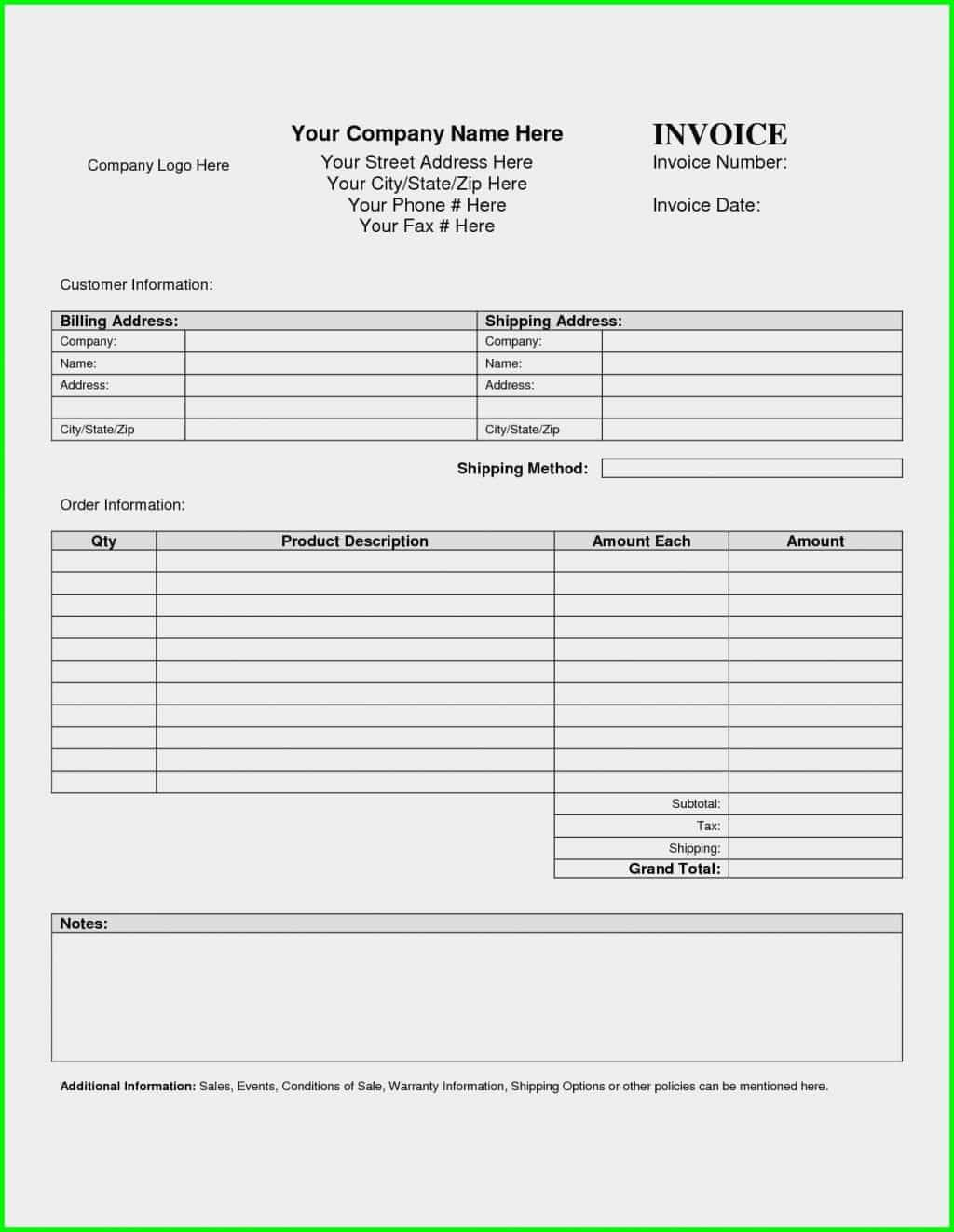 Free Sample Invoice Pdf And Free Sample Independent Contractor