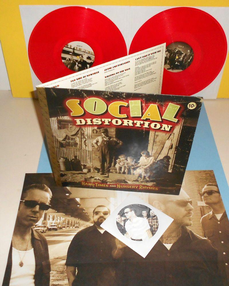 SOCIAL DISTORTION hard times RED dbl Vinyl x2 Lp w/ 2 Bonus Tracks + Cd + poster