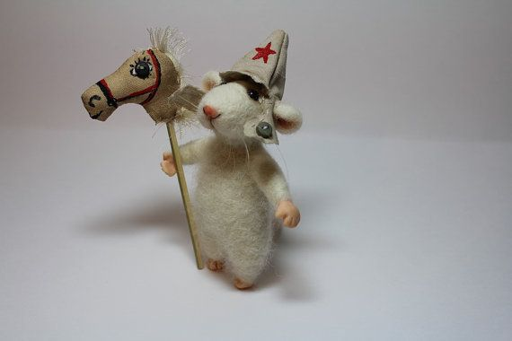 White+mouse+++Needle+Felted+Animal+++Soft+Sculpture++by+cushytoys,+$100.00