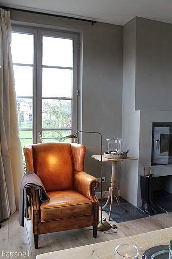 Fonkelnieuw Mooie oude leren stoel - Eetkamerstoel wit, Ideeën voor FY-96