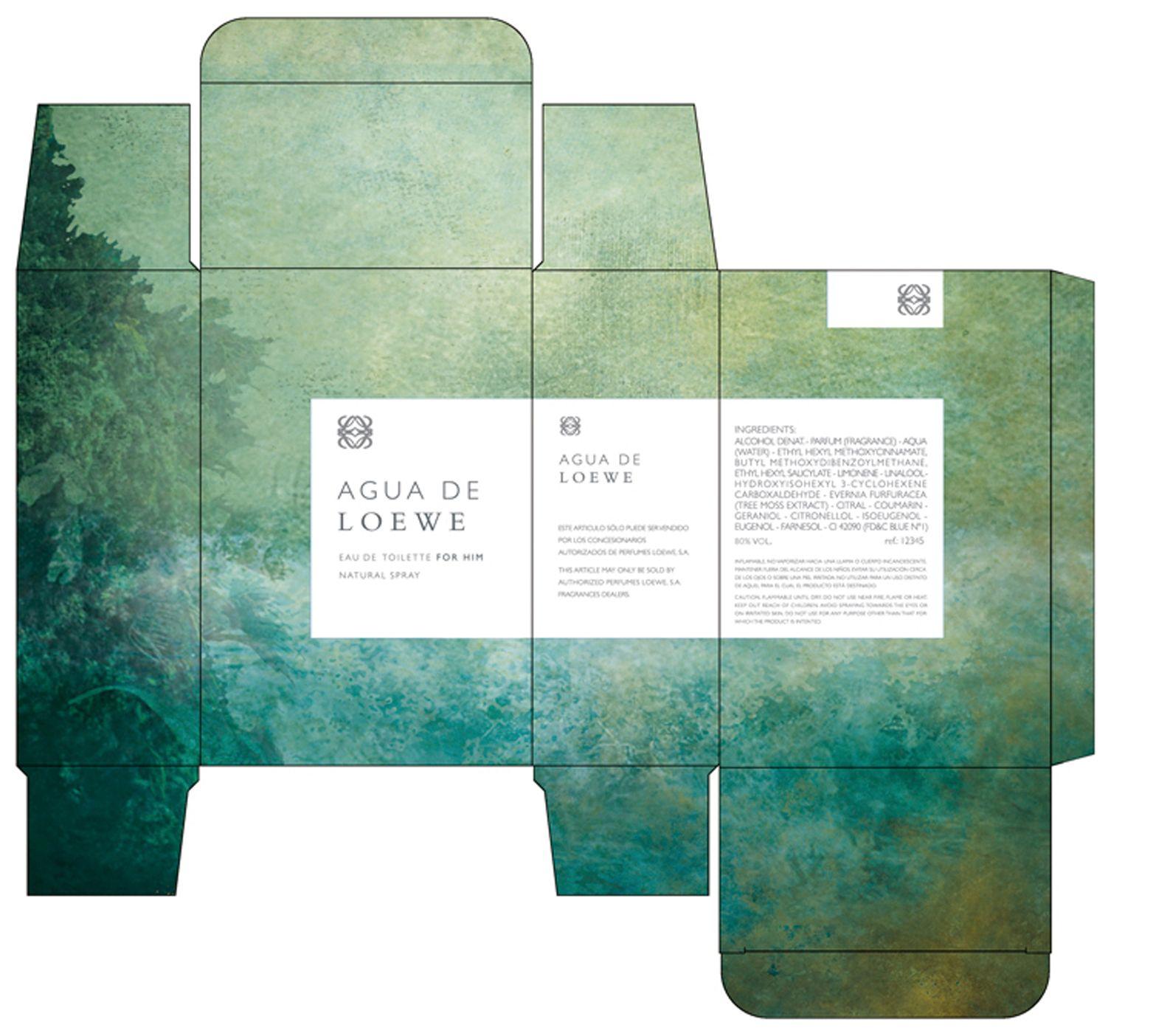 Packaging para Loewe. Ilustración de Gabriel Pacheco.