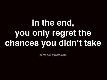 The things you regret... #quote