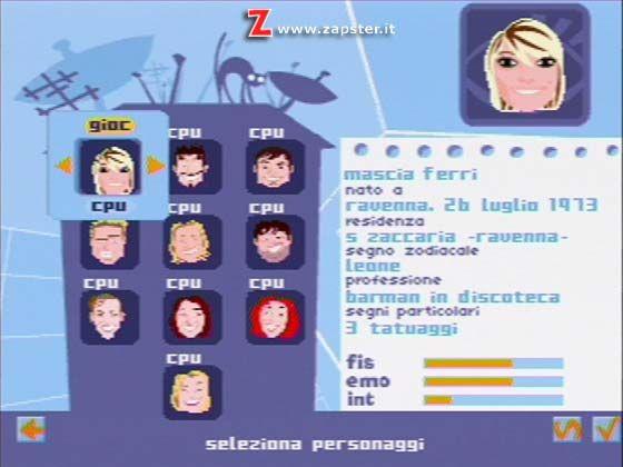 Un'immagine del videogioco Grande Fratello - Il gioco per PSX