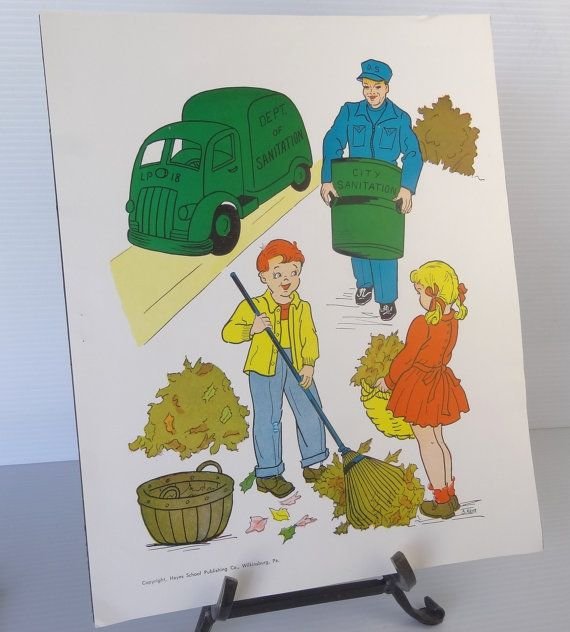 Vintage 1958 Garbageman   Sanitation Worker School Poster - sanitation worker sample resume
