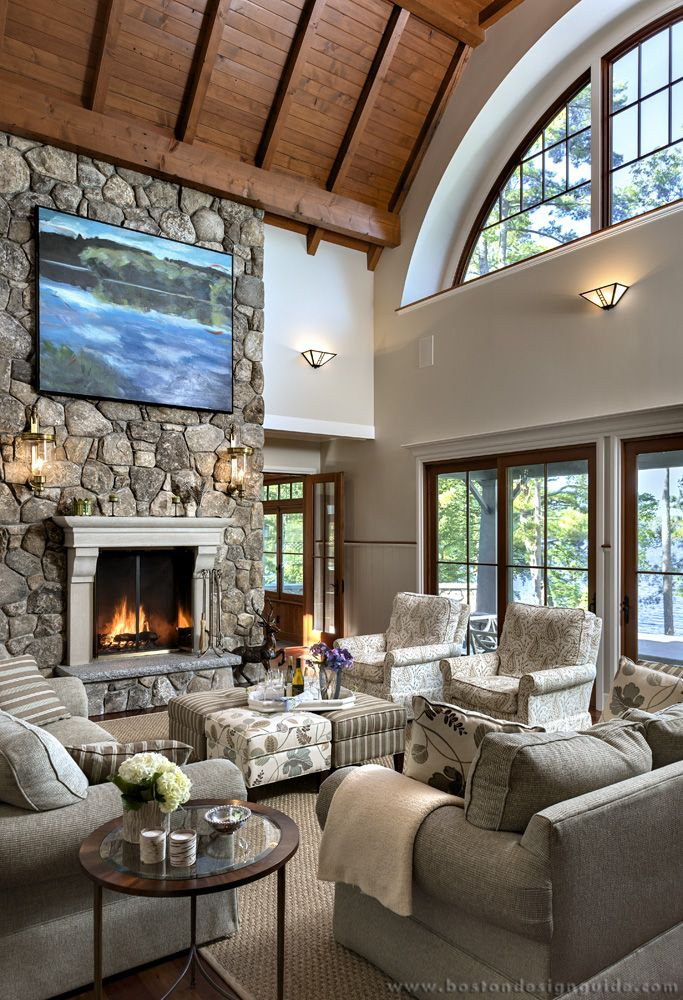 Out Of Site Landscape Is A Key Architectural Feature For Five Inspired Homes Lakefront Living House Lakefront Homes