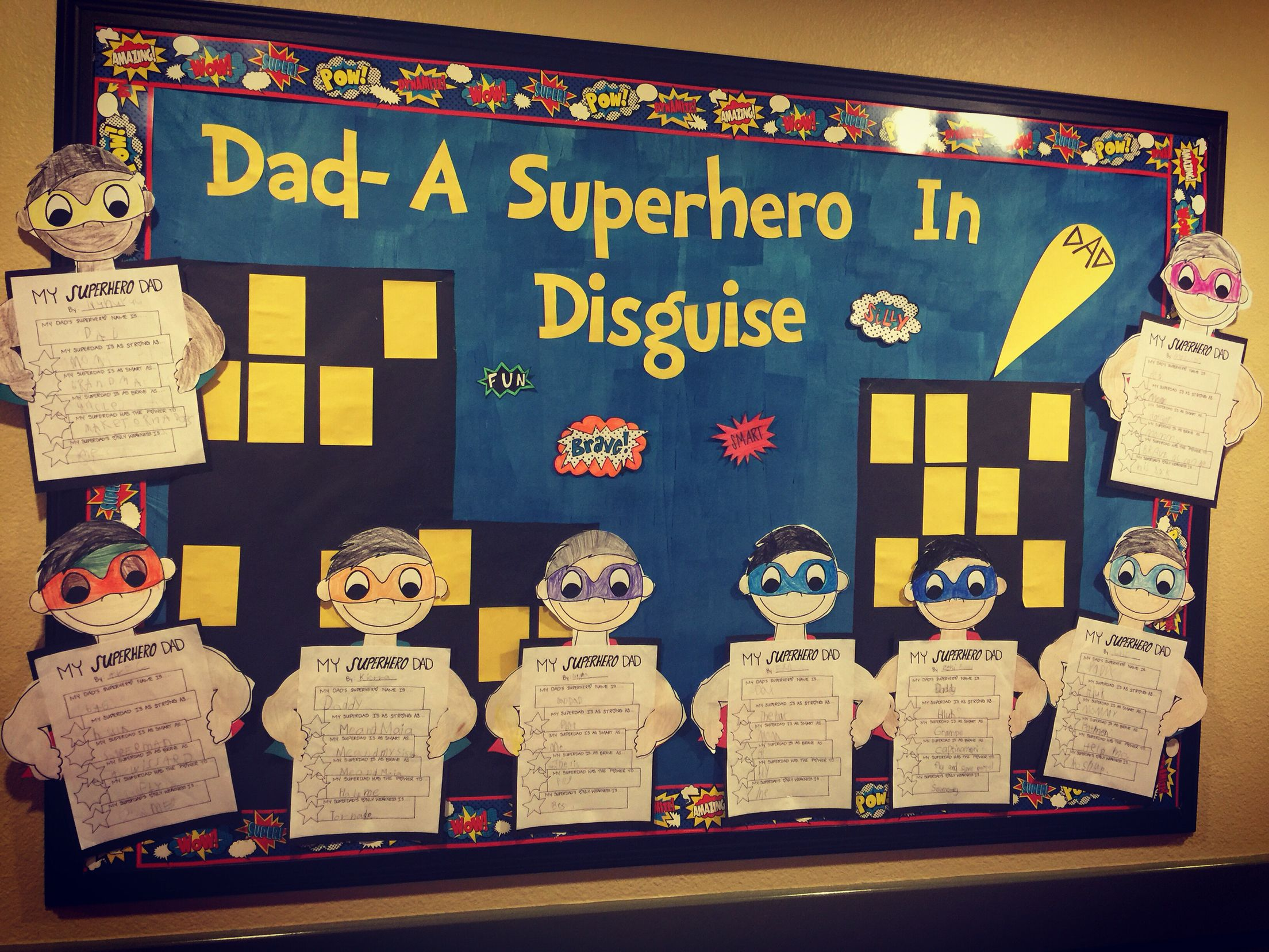 Father S Day Superhero Bulletin Board Bulletin Boards I