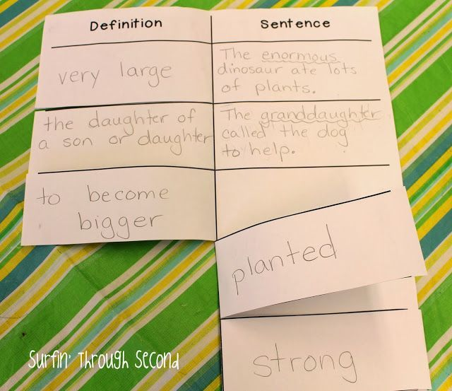 Vocabulary flip book freebie also wrapping up the quarter and  new teachers pinterest rh
