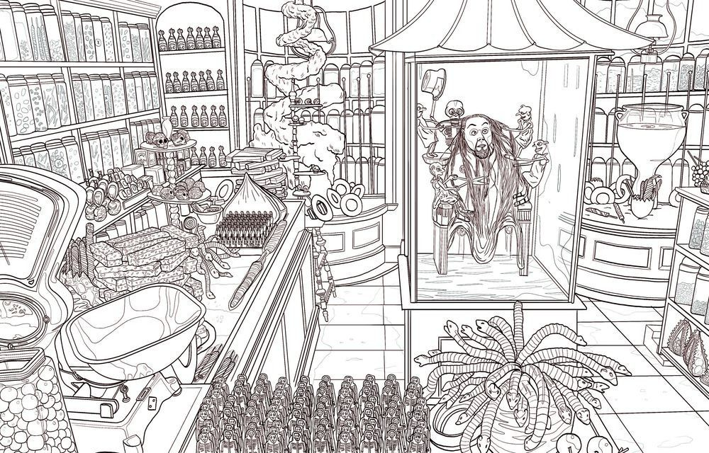 Third Harry Potter Coloring Book Dives Deep Into The Wizarding World Harry Potter Coloring Book Harry Potter Coloring Pages Harry Potter Colors