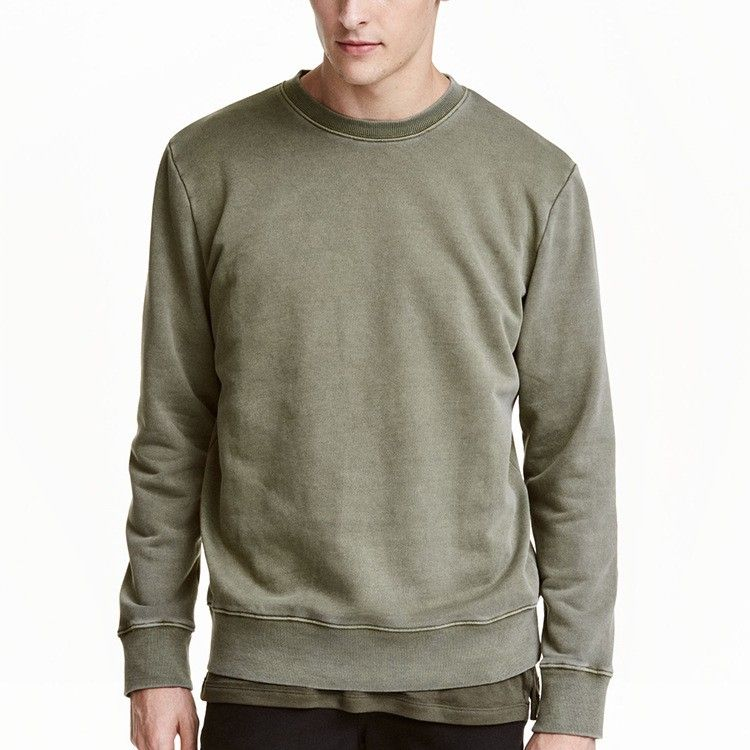 fb288d20e 100% cotton french terry wholesale crewneck washed blank sweatshirt ...