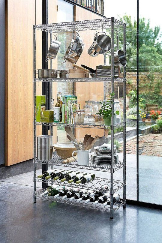 Wire Shelves In Your Kitchen