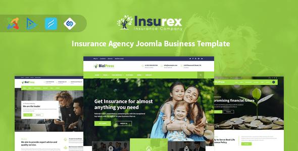 Insurex Insurance Agency Joomla Business Template Insurex Is A