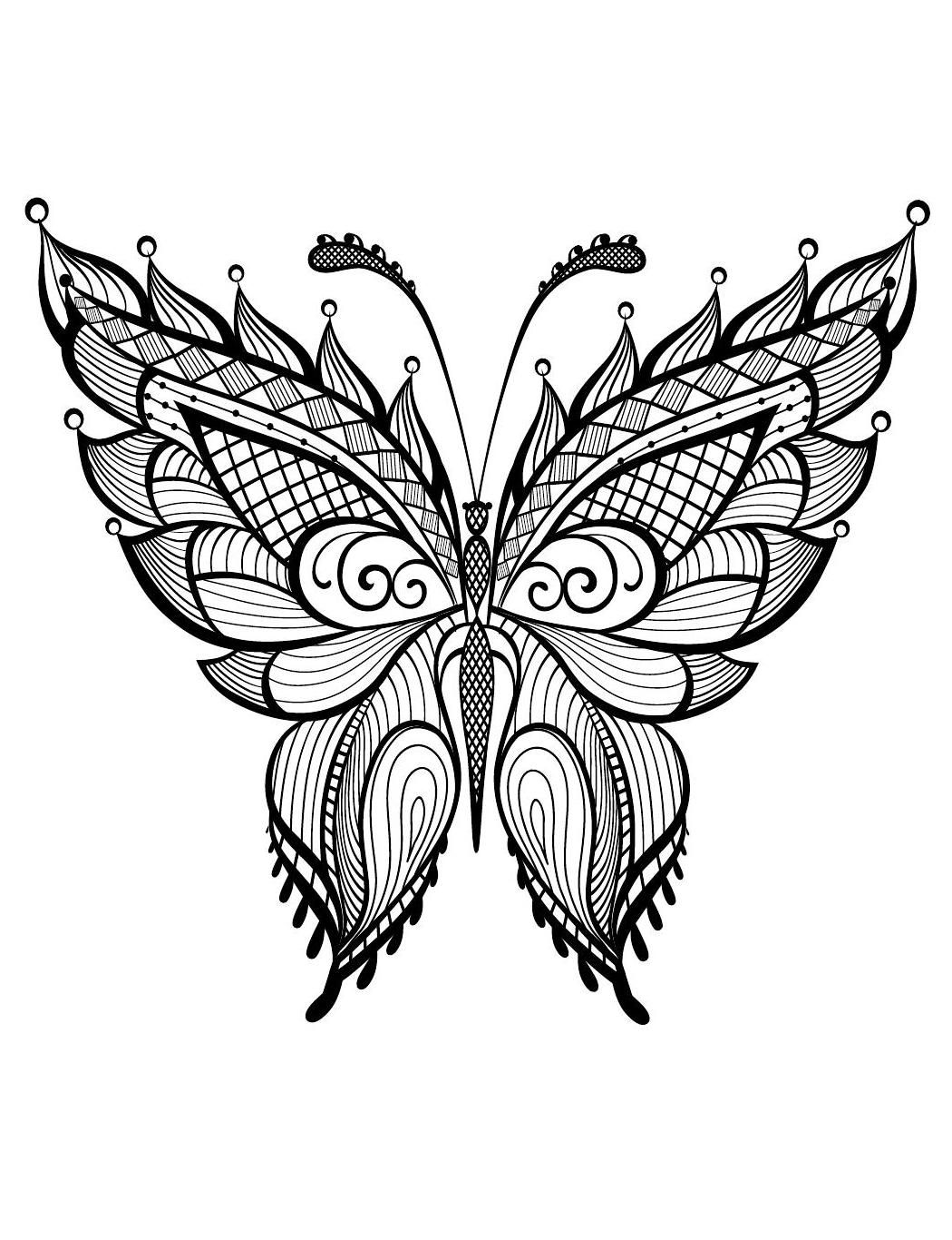 Nuostabi Akimirka Butterfly Coloring Page Mandala Design Art Butterfly Tattoo Designs