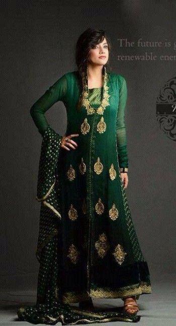 Green Ankle Length Dresses