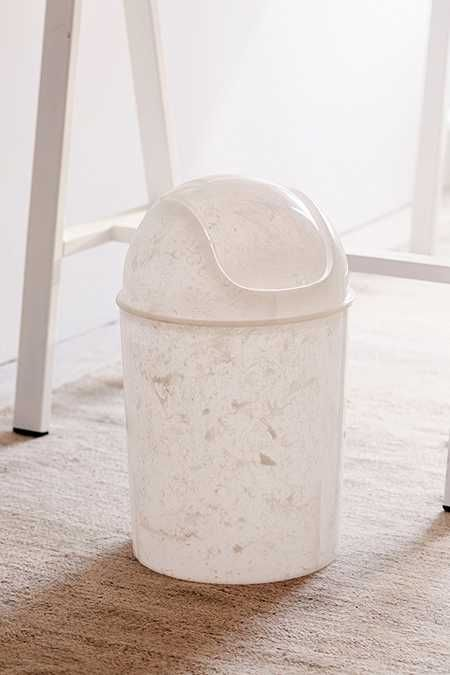 Marble Mini Trash Can Bedroom Trash Can Trash Can Work Space Decor