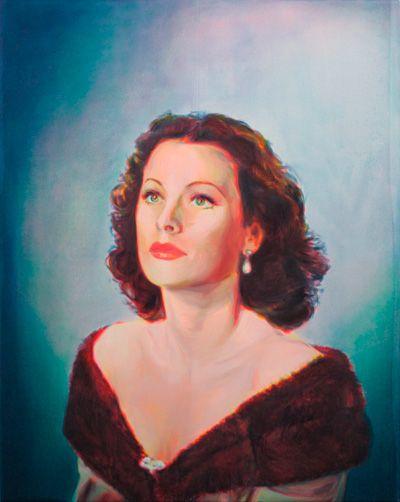 Nina Childress - Hedy, 2012 huile sur toile 250 x 200 cm