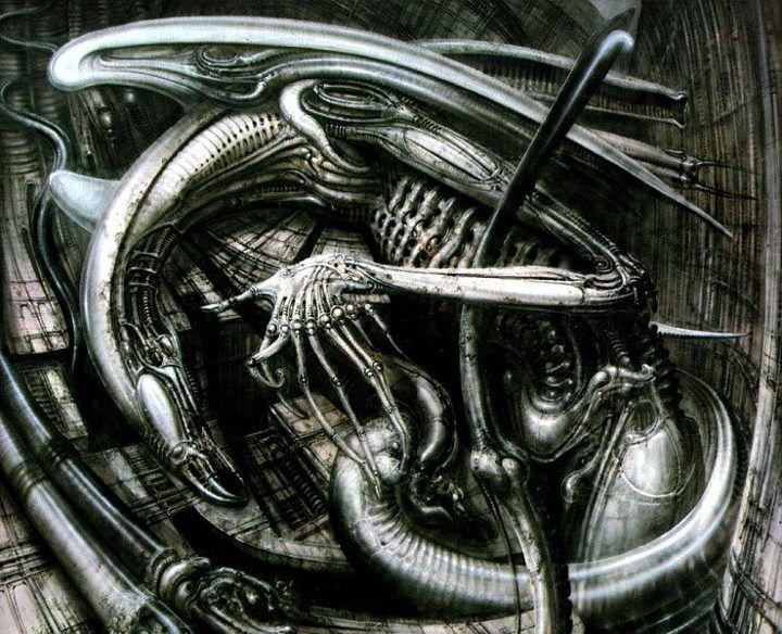 H.R. Giger's  Monster 3 I think.