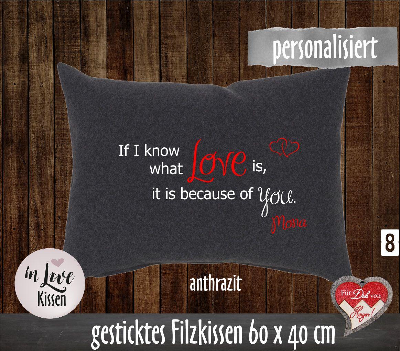 Kissen Bestickt Liebeserklarung Geschenk Fur Partner Kissen