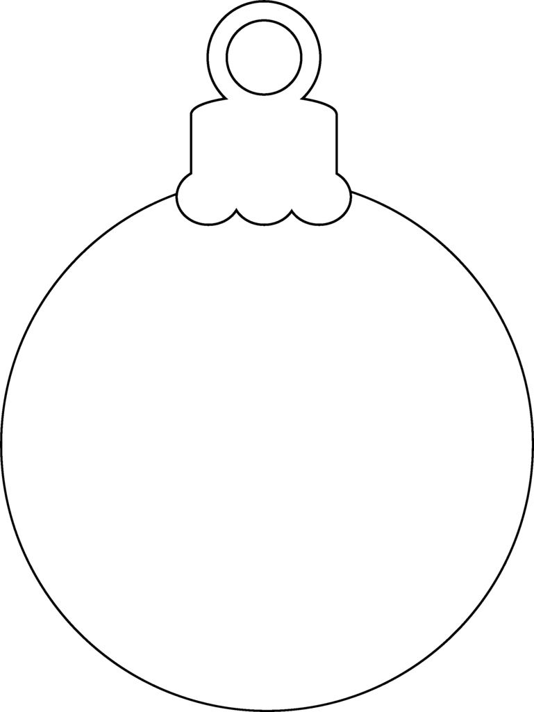 Christmas Ornament Christmas Ornament Template Christmas
