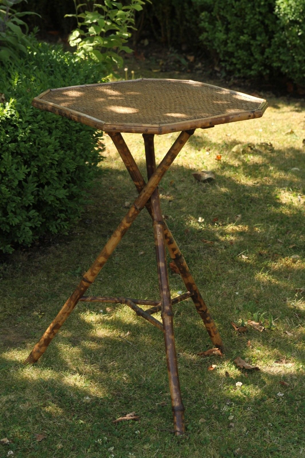 Details About Antique Vintage Bamboo Plant Stand Side