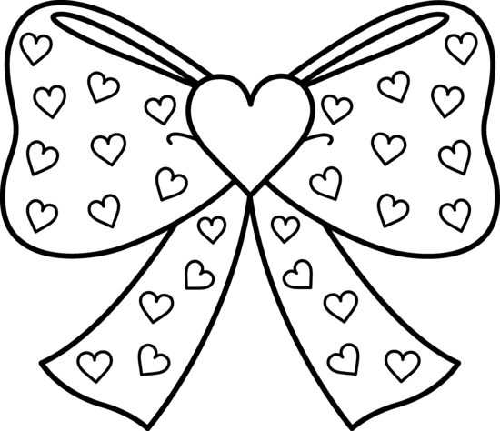 Bow With Hearts Coloring Page Free Clip Art Heart Coloring Pages Printable Christmas Coloring Pages Free Printable Coloring Pages