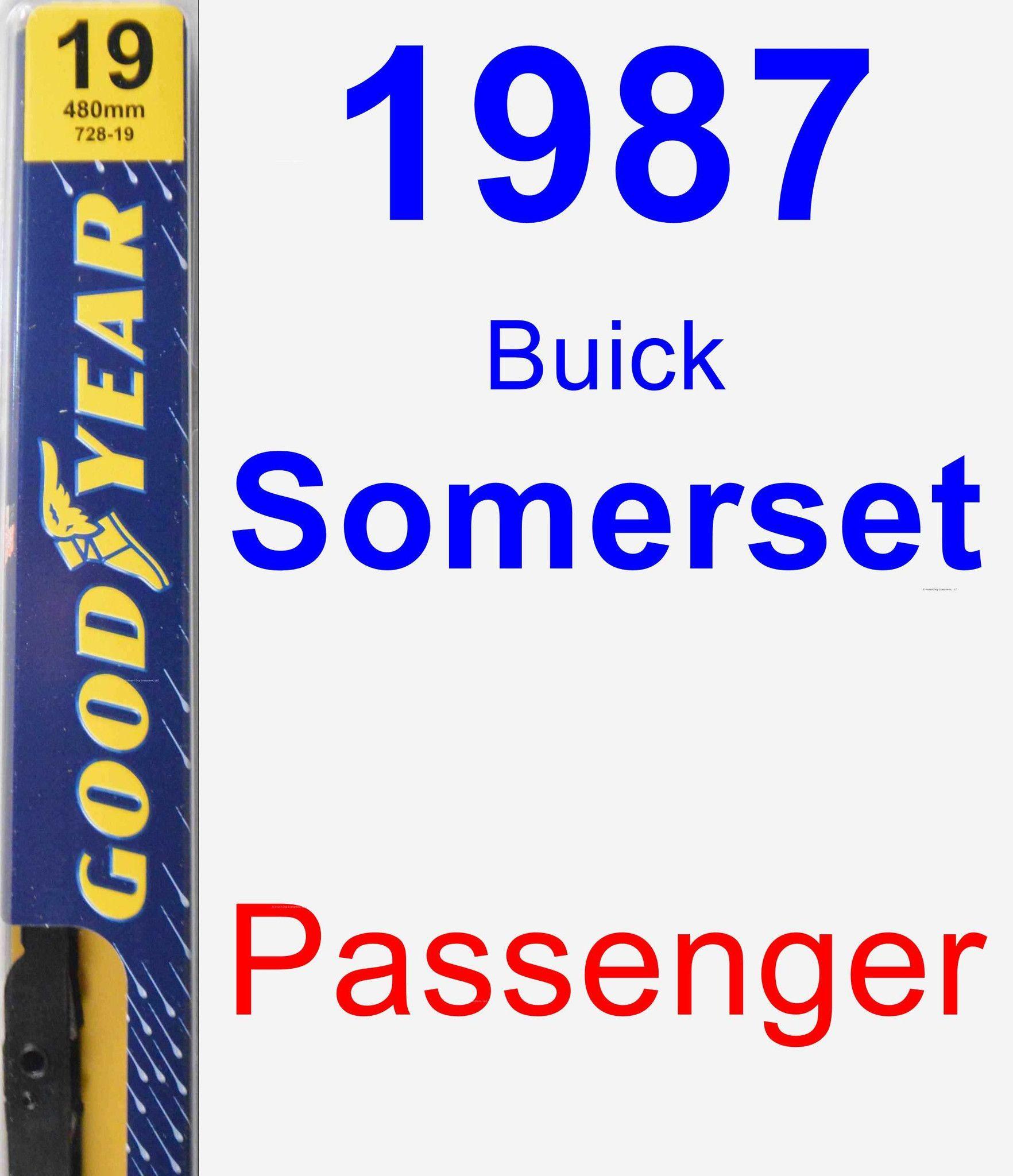 Passenger Wiper Blade for 1987 Buick Somerset - Premium