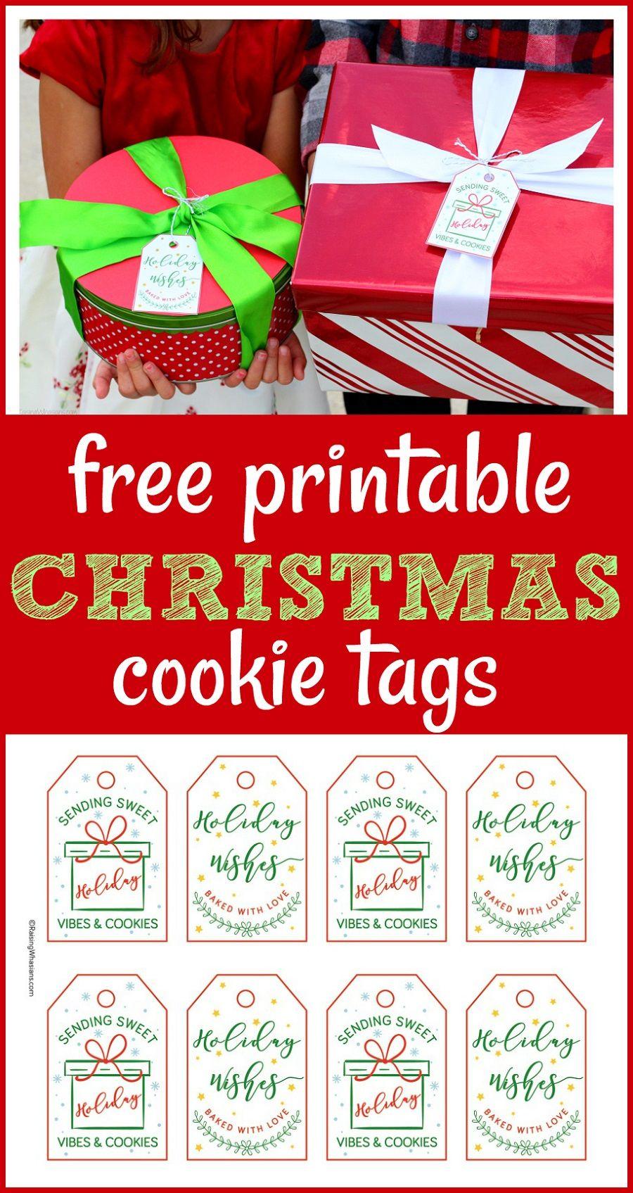 Free Christmas Cookie Tags Printable Raising Whasians Free Printable Christmas Gift Tags Free Christmas Tags Christmas Tags Printable
