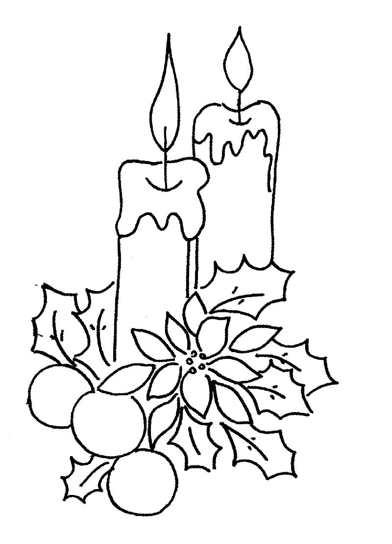 Bougies de Noël | Couleurs de noël, Coloriage noel, Dessin noel