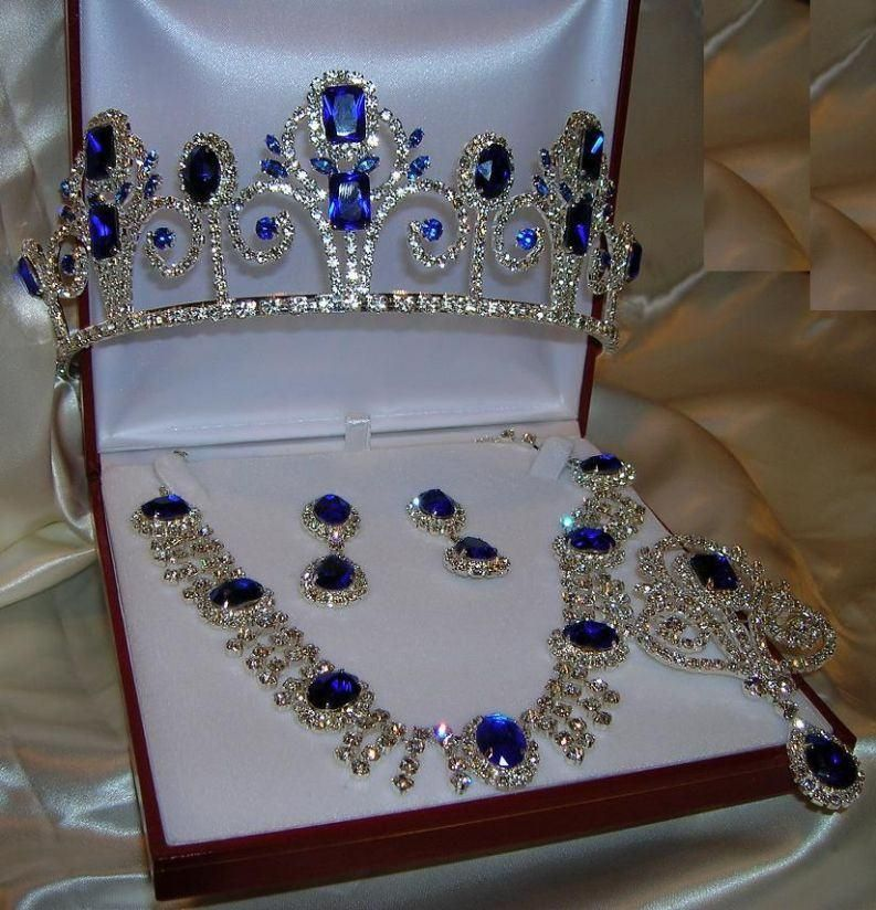 Royal Blue Necklace And Earring Sets