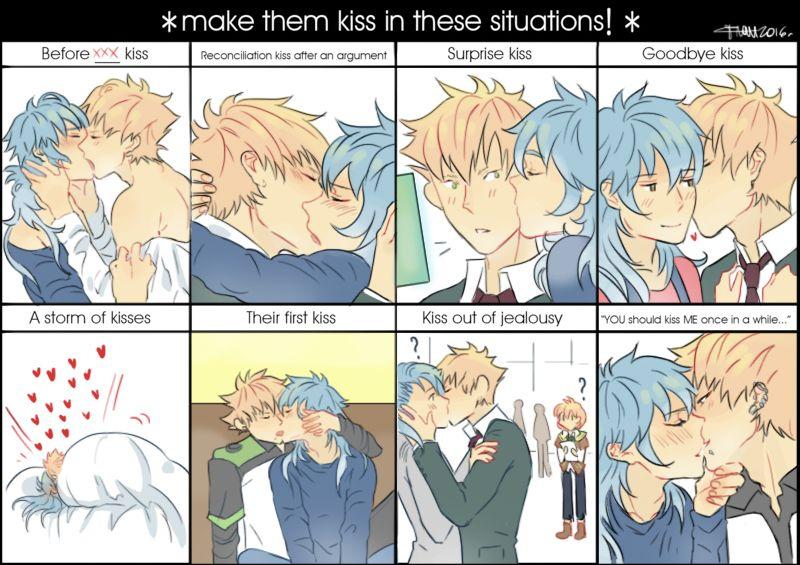 【ノイ蒼】KISS MEME ( ˘ ³˘)